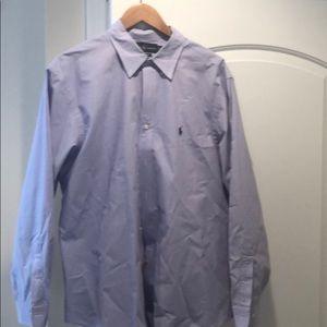 Ralph Lauren purple and white dress shirt